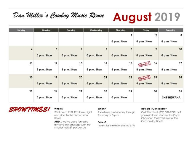Calendar - August