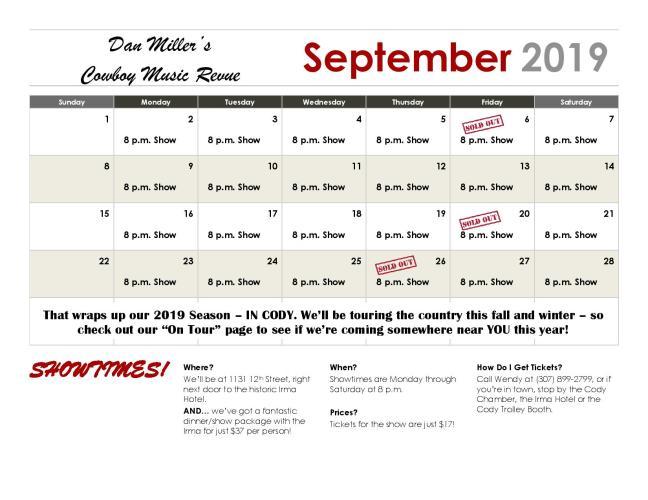 Calendar - September
