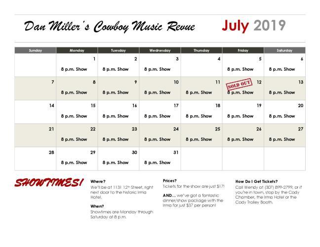 Calendar - July