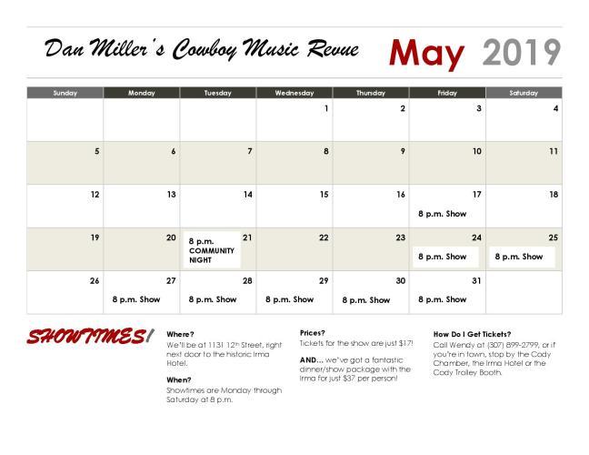 Calendar - May