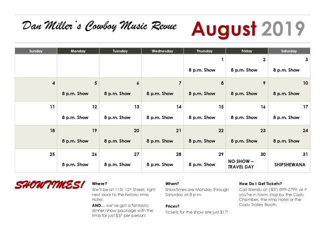 Calendar - August (2)